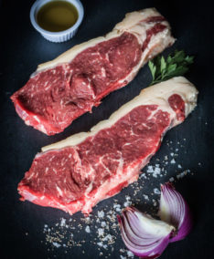 two sirloin steaks