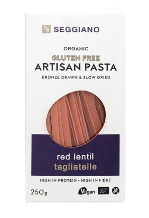 red lentil tagliatelle