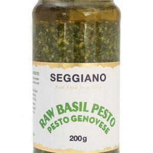 raw basil pesto